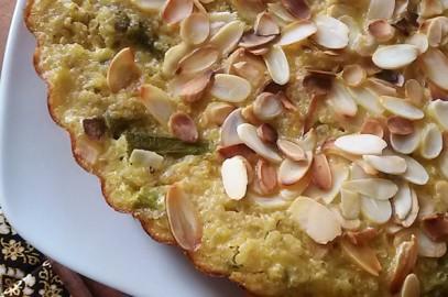Recette: Gâteau de quinoa aux asperges et aux amandes effilées