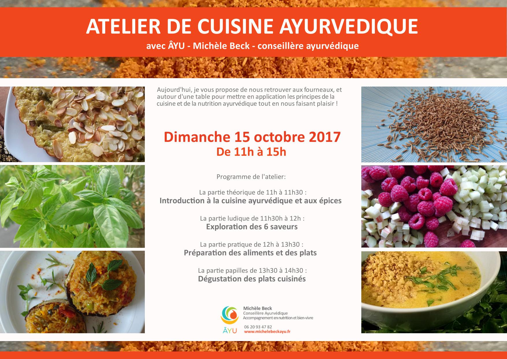 Atelier de cuisine ayurvedique le dimanche 15 octobre de for Atelier de cuisine montpellier